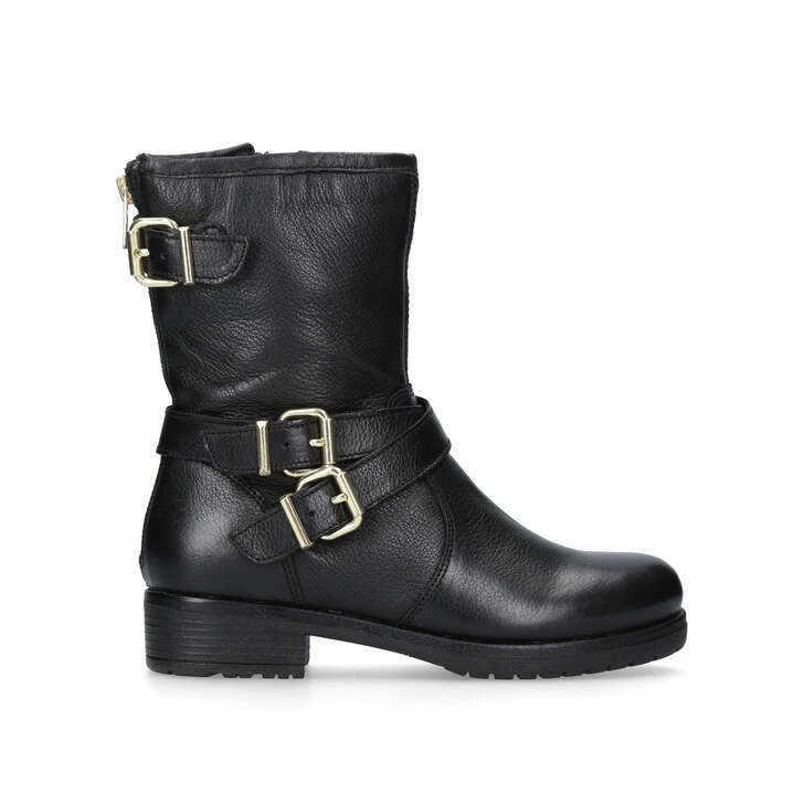 ab15b3331906 Soulful. Black Leather Hiker Boots