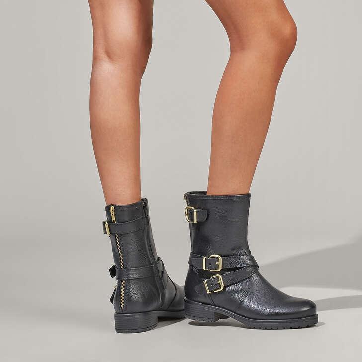 Carvela Soulful - black flat biker boots Clearance Store Cost Online UBCQfspo