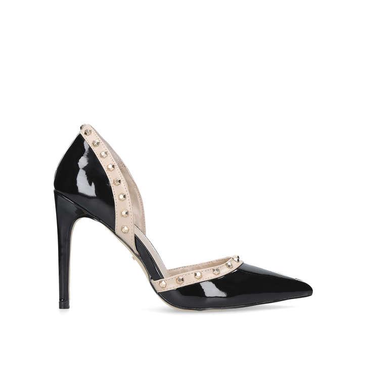 35dc8d7f52 Kosmic Black High Heel Court Shoes By Carvela | Kurt Geiger
