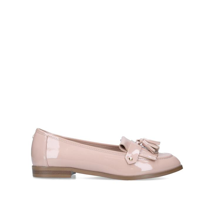 MAGPIE Blush Patent Tassel Loafers by