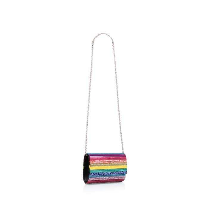 party envelope rainbow party clutch bag by kurt geiger london kurt