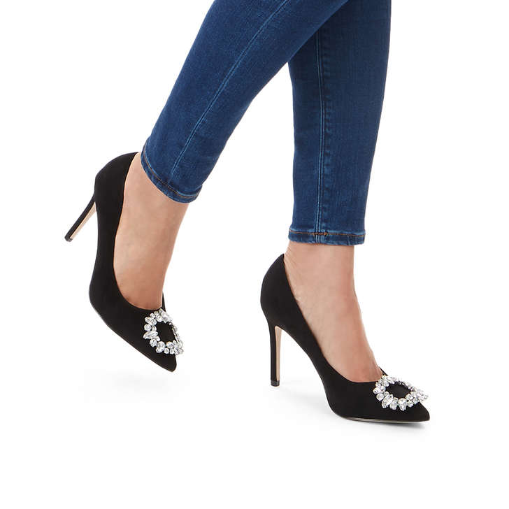 7a3ca8f05227 Sally Black High Heel Court Shoes By Miss KG