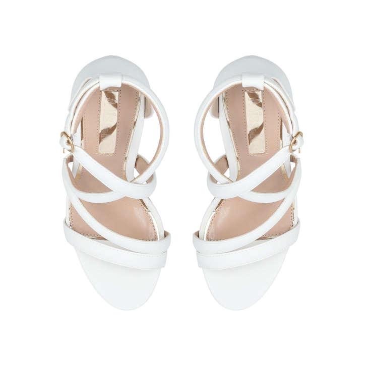 2800a8d8b9ff Swish White Block Heel Sandal By Miss KG