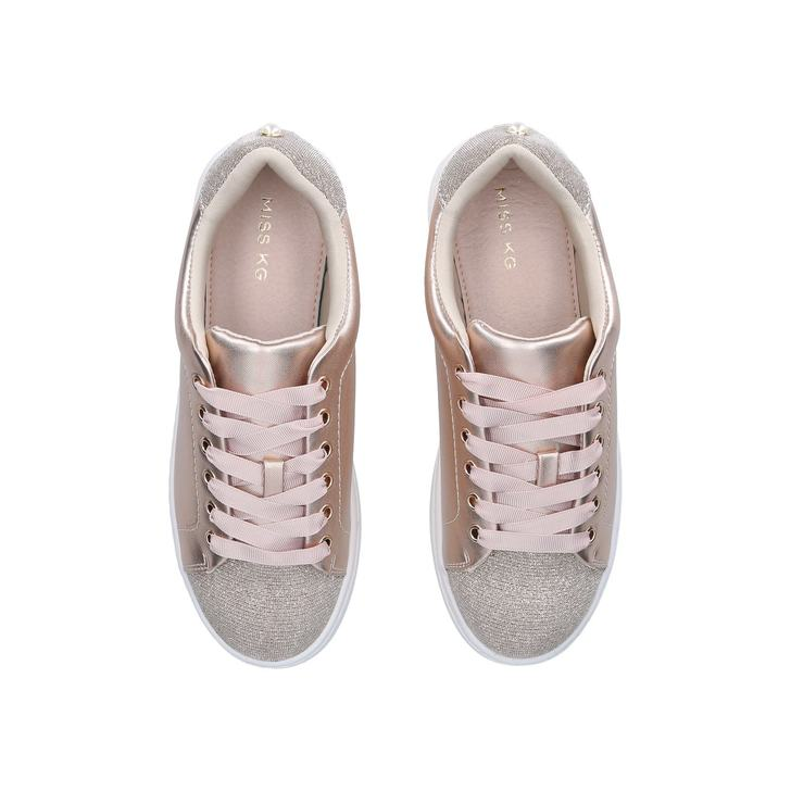 Kori Metallic Lace Up Trainers By Miss