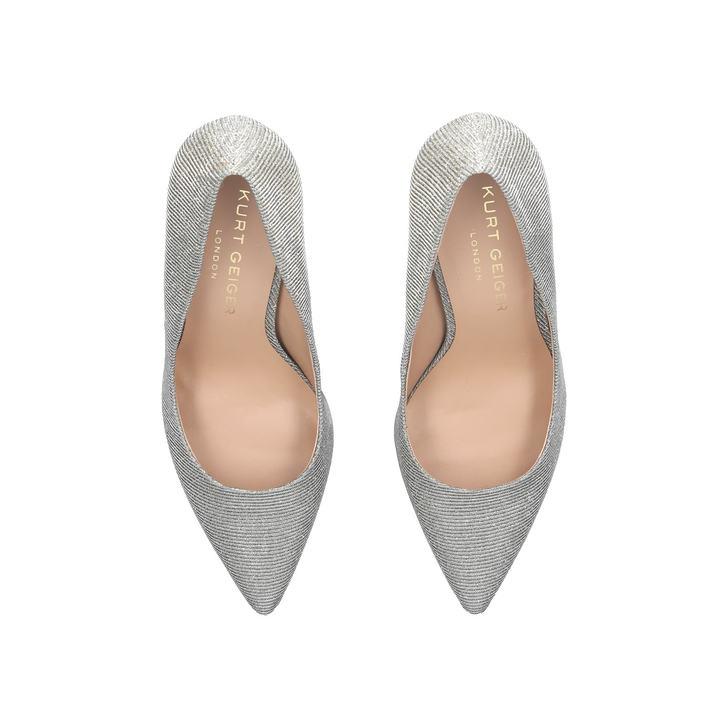d5b2395442 Audley Silver High Heel Court Shoes By Kurt Geiger London | Kurt Geiger