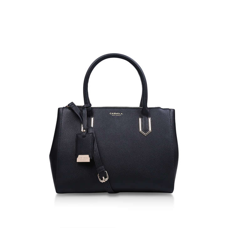 e1642490f096 Sunny Double Zip Tote Black Tote Bag By Carvela