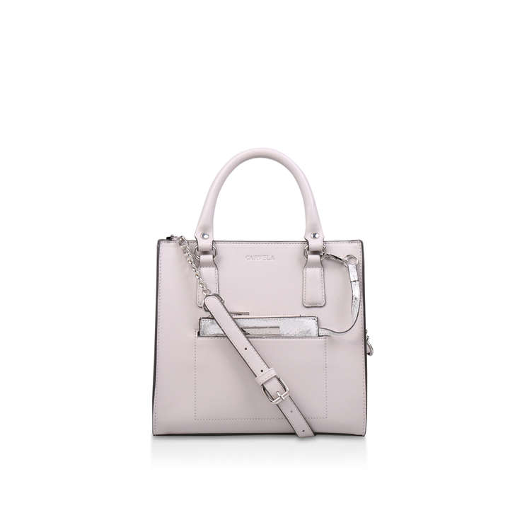 3083977309f6 Simba Pocket Purse Tote Grey Tote Bag With Silver Purse By Carvela ...