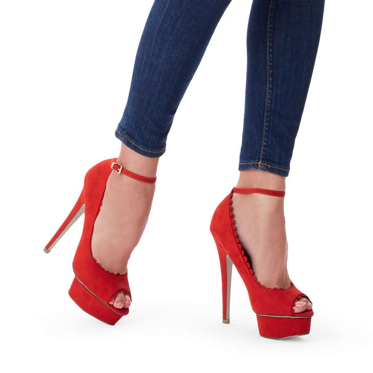 b58b83279bf5 Freda Red High Heel Shoes By Miss KG