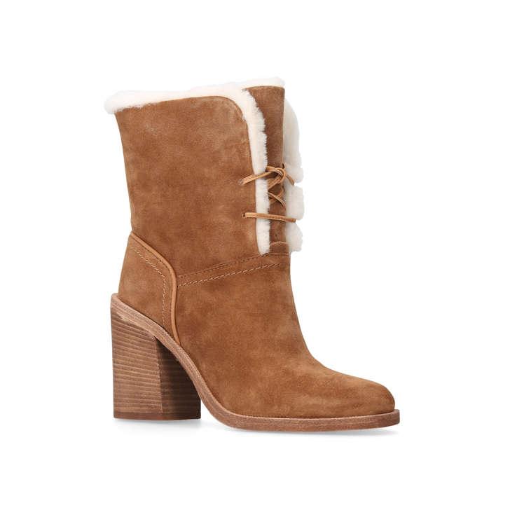 jerene brown high heel ankle boots by ugg australia kurt