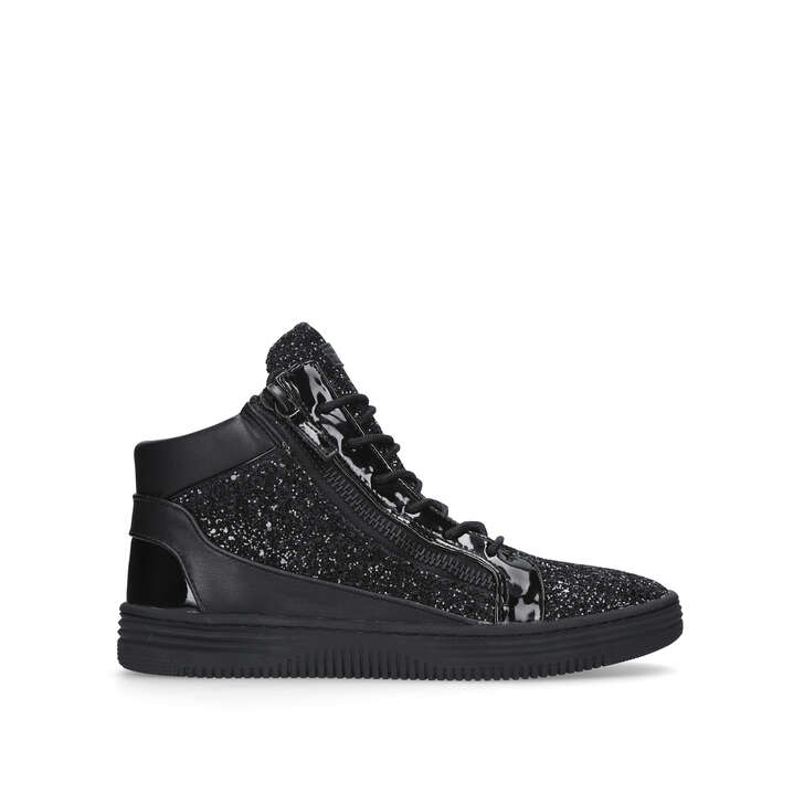 Jacobs Black High Top Trainers By Kurt Geiger London