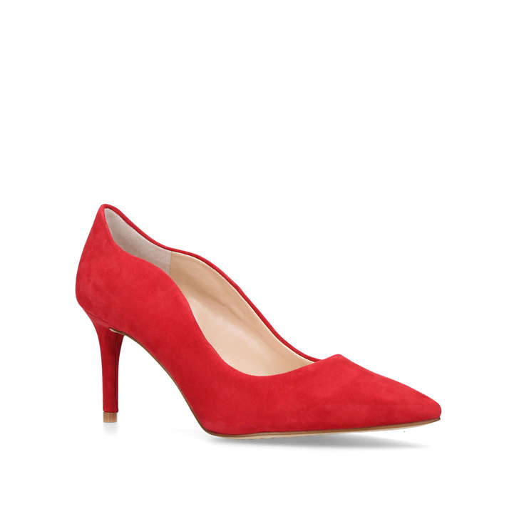 Jaynita Red Mid Heel Court Shoes By Vince Camuto | Kurt Geiger