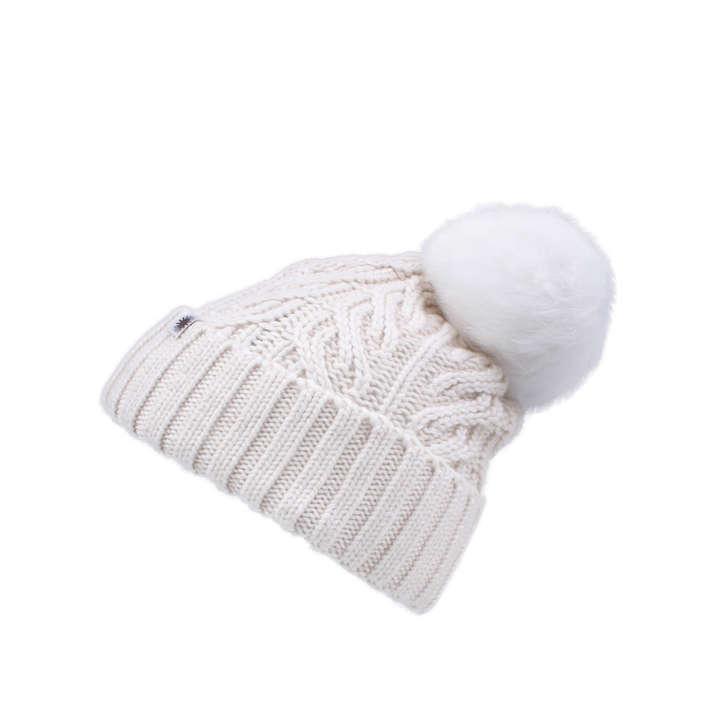 f5231ca089b Cuff Hat Fur Pom White Fur Pom Hat By UGG