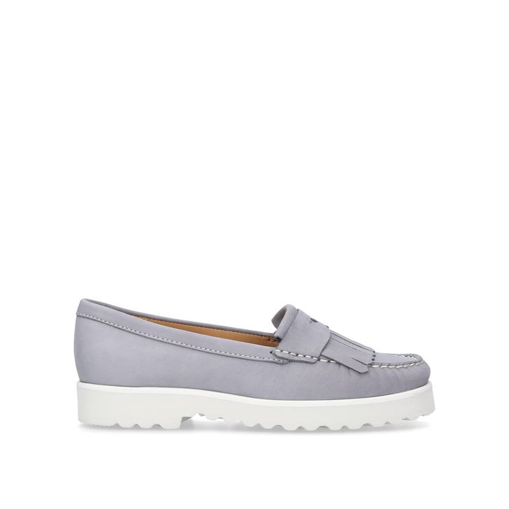 4217e47810e Christina Grey Flat Loafers By Carvela Comfort