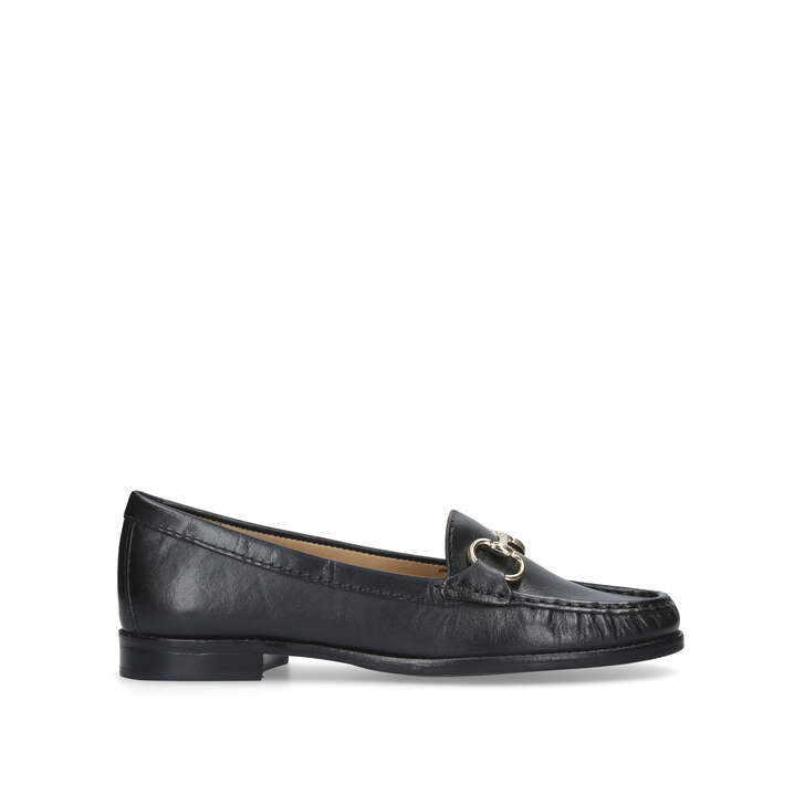 Black 'Click' flat leather loafer