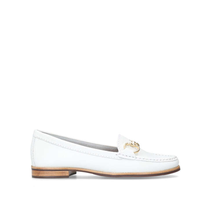 CLICK White Flat Loafers by CARVELA