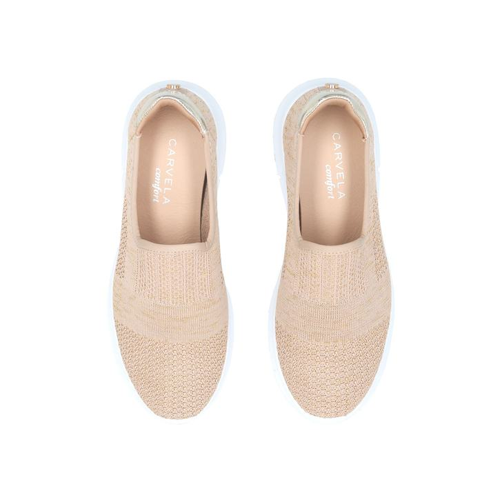 Gold 'Carly' slip on trainers pay with paypal cheap online 100% guaranteed cheap price cheap latest collections sale classic free shipping latest collections WcGl8