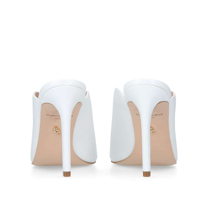 Kurt Geiger Berwick - white high heel mules Clearance 2018 Unisex Sale Amazon Buy Cheap Sale Best Store To Get For Sale mBWa0yq