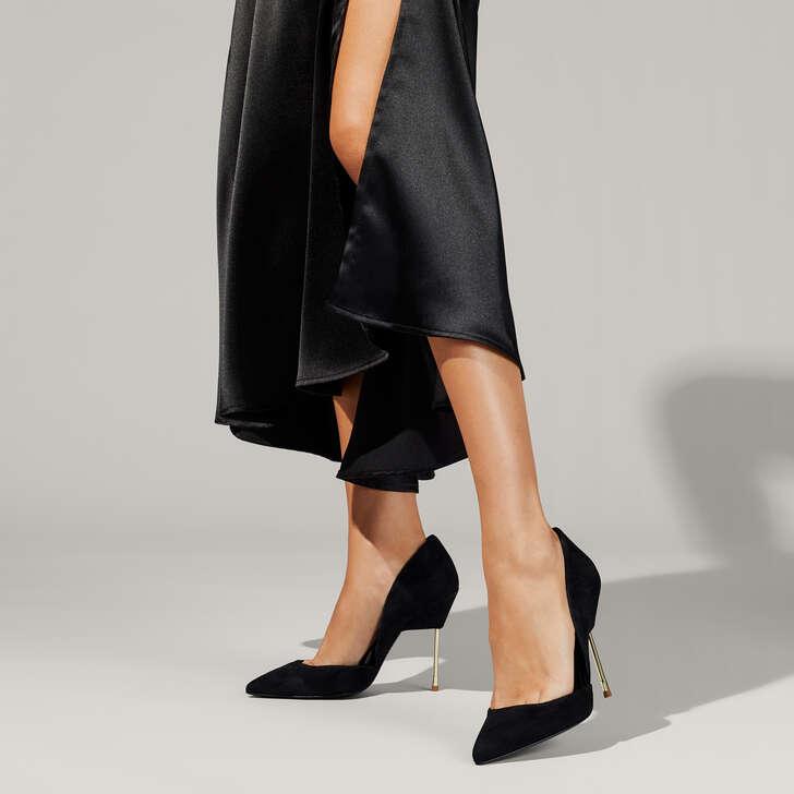 ecfe85df66e49b Bond Black High Heel Court Shoes By Kurt Geiger London | Kurt Geiger