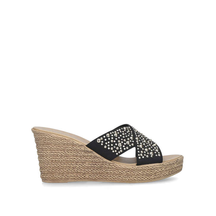 ce7def0eb2 Stephanie Black Embellished Wedge Sandals By Carvela Comfort | Kurt Geiger