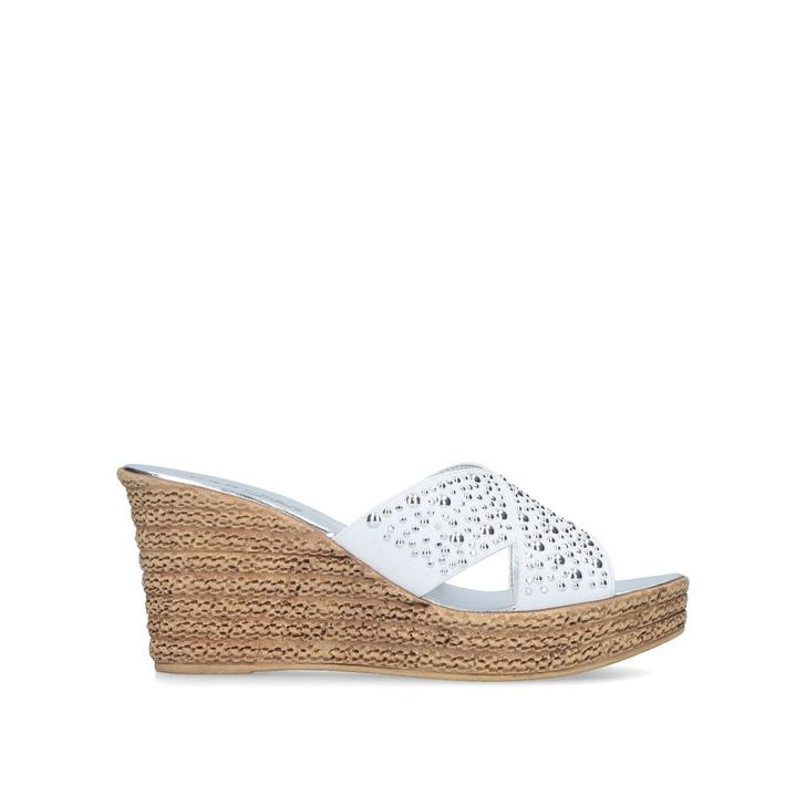 Carvela Comfort Stephanie - white wedge sandals Affordable Sale Online Outlet Latest Collections Manchester Great Sale Cheap Online For Sale Official Site For Cheap Sale Online FwJtW