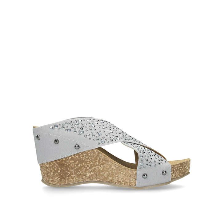 sale usa online ever popular innovative design Sully Grey Cross Strap Wedge Heels By Carvela Comfort | Kurt ...
