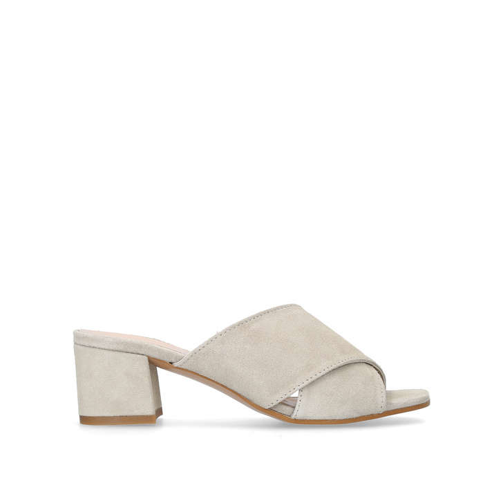 Grey 'Sienna' mid heel mules free shipping choice exclusive enjoy cheap price clearance 2014 new QCHjJZY