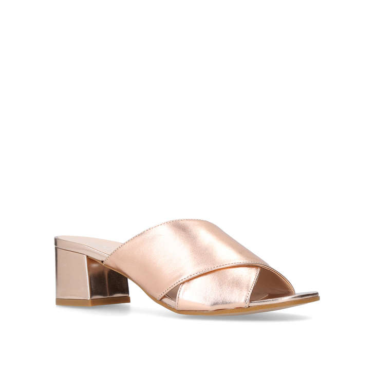 cheap cheap online Bronze 'Sienna' mid heel mules free shipping outlet clearance wholesale price cheap visit new AhhEqMvqMe