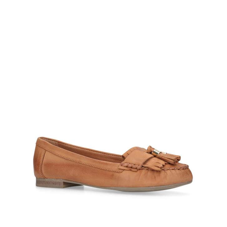 Carvela Se Moquant Des Chaussures Plates En Cuir Blanc - 1y2afBR3rp