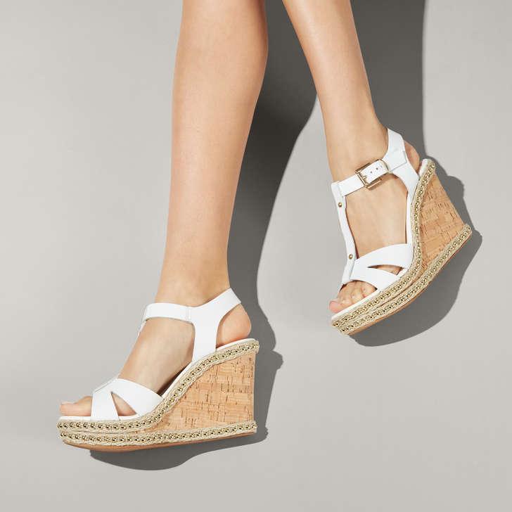 White High Sandals Wedge Wedge Heel White High Heel ZPkOXiu