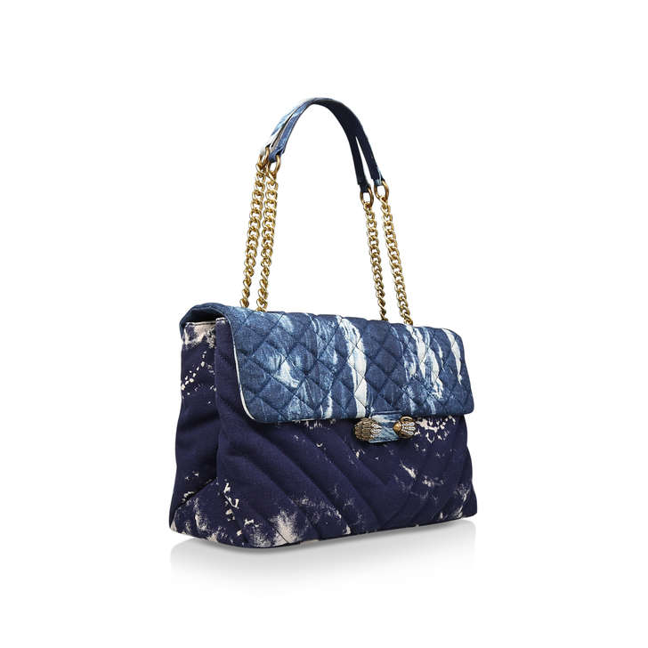 Denim Xxl Kensington Bag Blue Shoulder Bag By Kurt Geiger