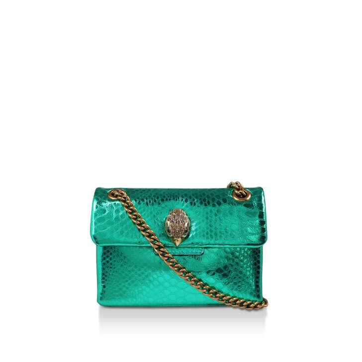 MINI KENSINGTON X BAG Green Leather