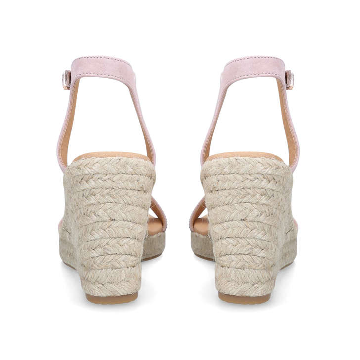 6fccaa1560 Krystal Nude Mid Heel Espadrille Wedge Sandals By Carvela   Kurt Geiger