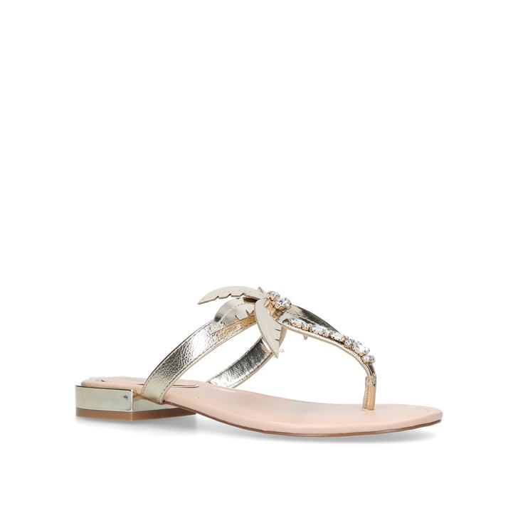 Gold 'Palma' flat sandals outlet manchester great sale E96ef6N7Ph