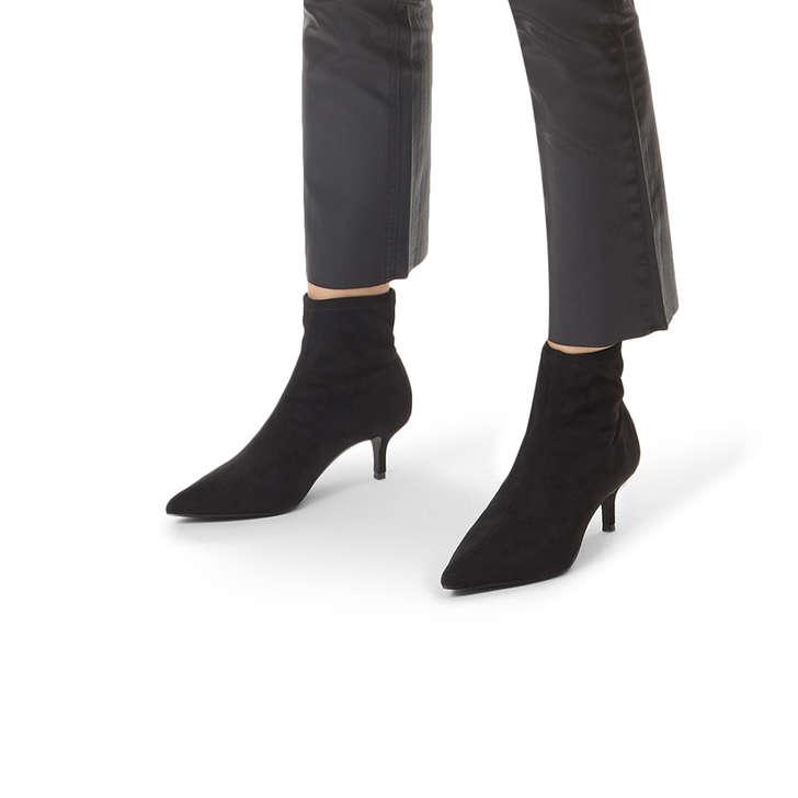 018bf2ca04e22 Sense Black Low Heel Ankle Sock Boot By Miss KG