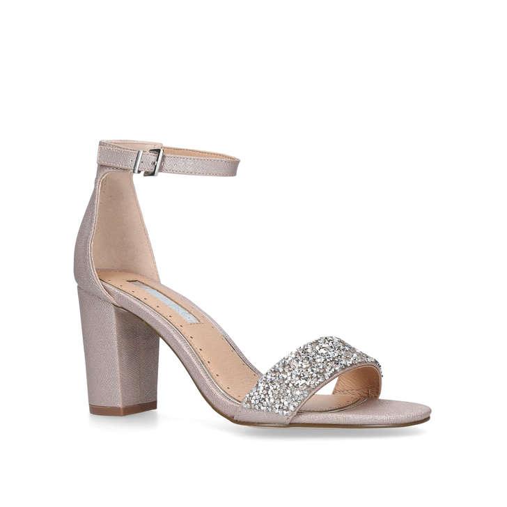 Nude 'Cadey' mid heel sandals outlet sale online sale best place 100% original online su17VxNc