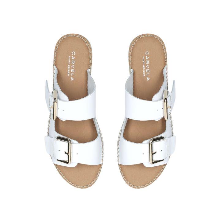 1aa286d70b938b Klever White Flatform Espadrille Sandals