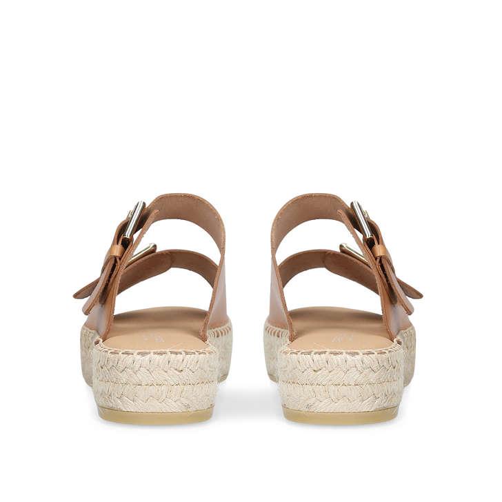 a9a431f5b52cea Klever Tan Flatform Espadrille Sandals