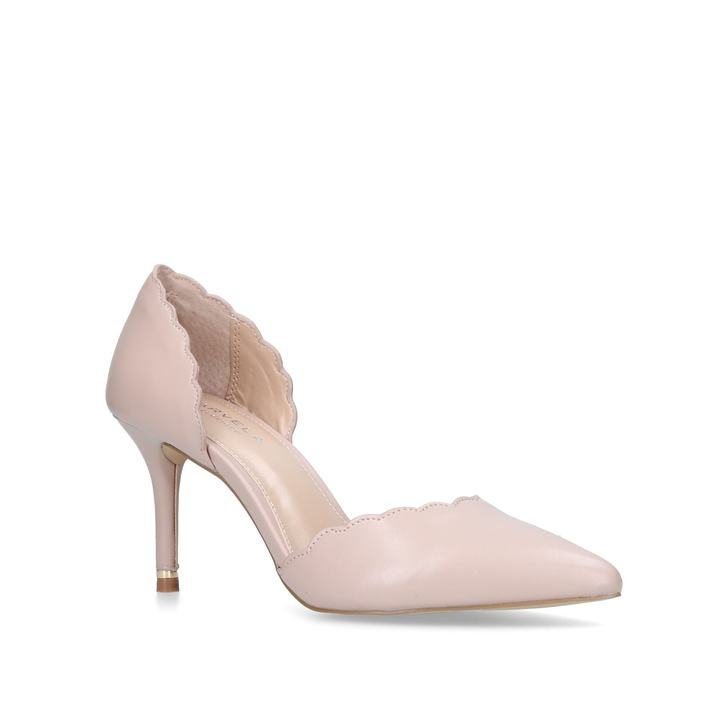 Lovlier Nude Mid Heel Court Shoes By Carvela Kurt Geiger | Kurt Geiger