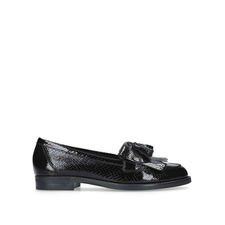 bcd3c89ab3c Klarke Black Flat Loafers By Kurt Geiger London