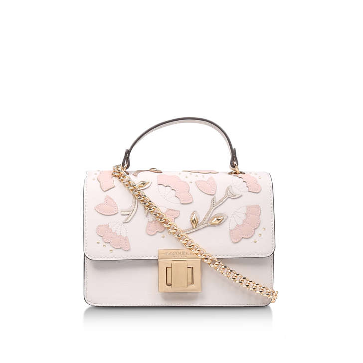 Orla Flower Chain Bag Cream Cross Body Bag By Carvela