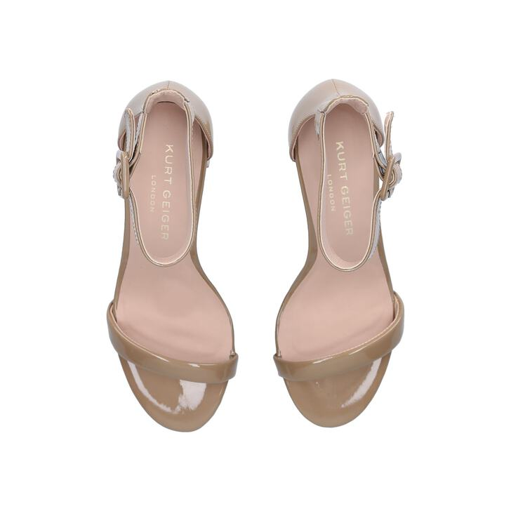 fc9253f91526 Langley Nude Mid Heel Sandals By Kurt Geiger London