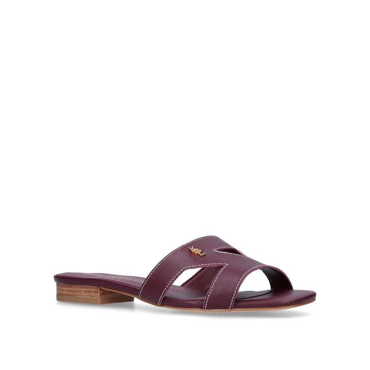 Kurt Geiger Odina - red flat slip on sandals 2018 Cheap Sale Buy Cheap Collections QoInjdMfdF