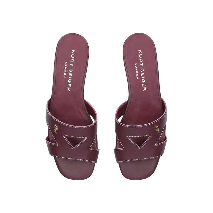 Kurt Geiger Odina - red flat slip on sandals Sale Great Deals 7yln8rVn