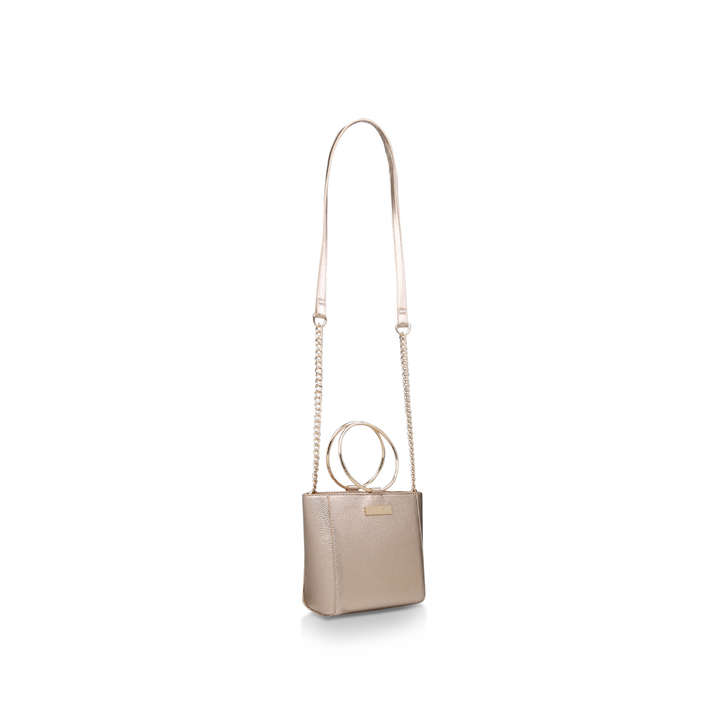 acbea524723f Super Circle X Body Gold Cross Body Bag By Carvela