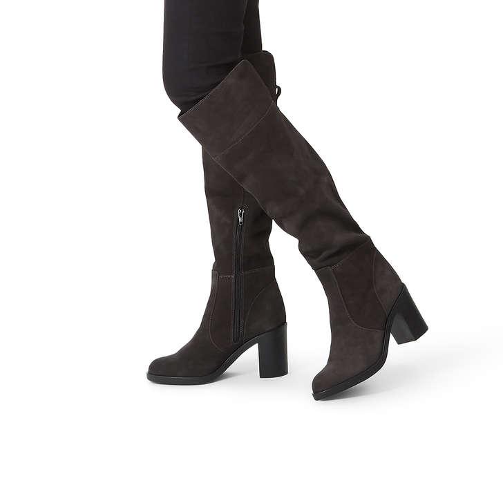 5a798a6c6fb Tring Grey Mid Heel Knee High Boots By Kurt Geiger London