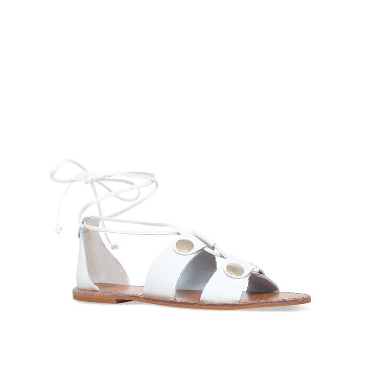 Kurt Geiger Marci leather tie up flat sandals shopping online sale online HOkWu0yemz