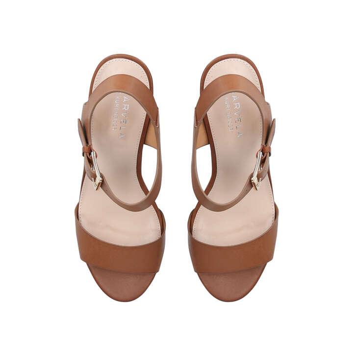 484c78bd1660 Sadie Tan Block Heel Sandals By Carvela