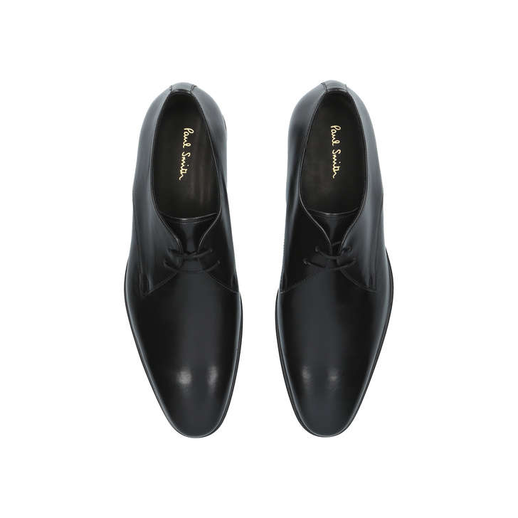 Coney Derby Black Lace Up Shoes By Paul