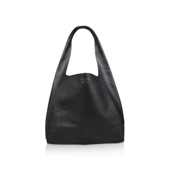 289ec23e016c Violet Soft Hobo Black Leather Hobo Tote Bag By Kurt Geiger London ...