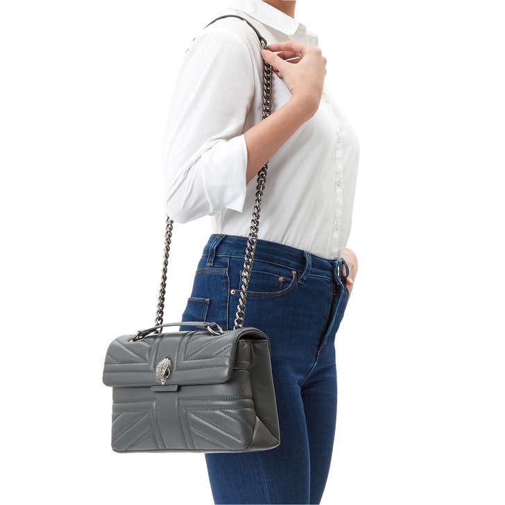 Leather Kensington Uj Bag Grey Shoulder Bag By Kurt Geiger